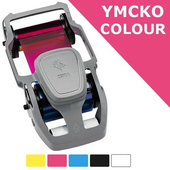 Картридж с лентой для цветной печати на 200 отпечатков для Zebra ZC350 (800350-350EM)