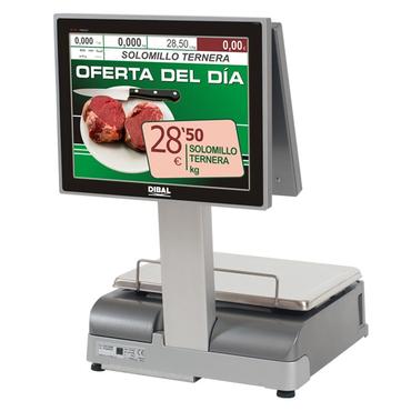 Весы с печатью чека Dibal CS-1100 2 Body 15+15