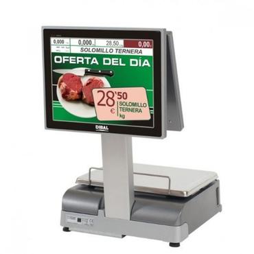 """Весы с печатью чека Dibal CS1100WD 15"""" 6/15KG с двумя 15"""" TFT-дисплеями"""